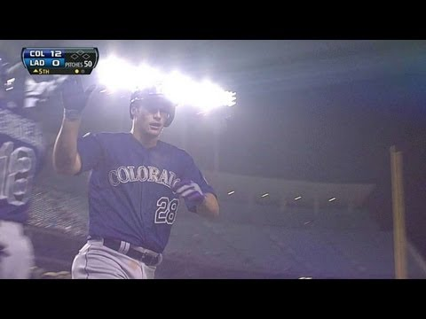 COL@LAD: Arenado rips first MLB homer in fifth