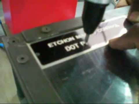 EtchON Scribbling Machine on Aluminum Name Plates
