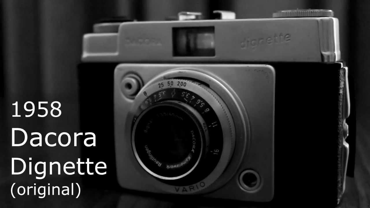 Vintage Cameras - Dacora Dignette (original, 1958) - YouTube