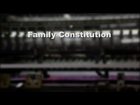 Family Business Governance: Family Constitution