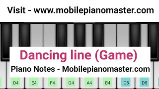 Dancing Line(Game) The Piano music|piano lessons|piano music|online piano|piano keyboard|Piano theme