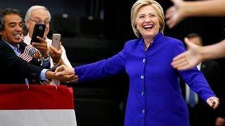 Hillary Clinton 'secures Democratic Party nomination'