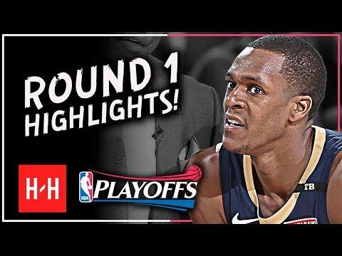 Playoff Rajon Rondo Full ROUND 1 Highlights Vs Portland Trail Blazers | All GAMES - 2018 Playoffs