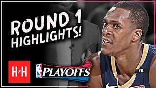 Playoff Rajon Rondo Full ROUND 1 Highlights vs Portland Trail Blazers   All GAMES - 2018 Playoffs