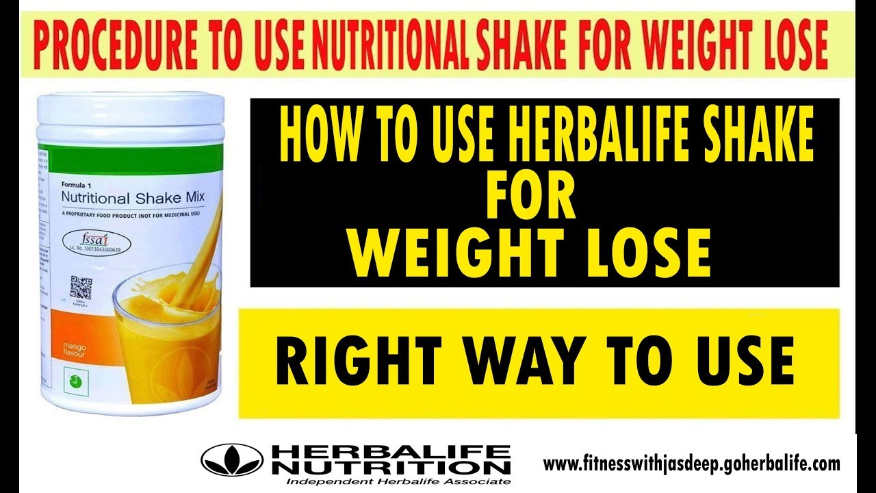 PROCEDURE TO USE HERBALIFE SHAKE |LOSE AROUND 5KG IN 1 MONTH|
