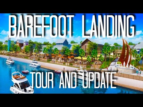BAREFOOT LANDING Construction Update & Tour - North Myrtle Beach - May 2018 | Attractions