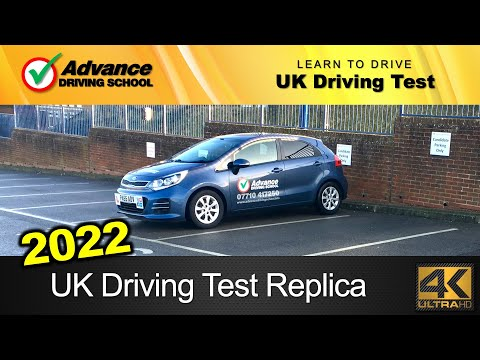 New 2018 UK Driving Test Replica (full route with Sat-Nav / manual car)