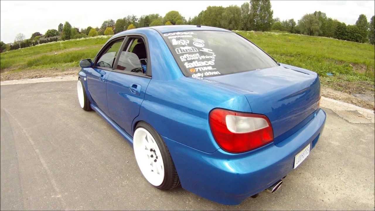 Subaru Wrx Sti 2013 >> Suburuuh's USDM Stanced Dutch Subaru Impreza WRX Bugeye on WORK XD9 18x10's - YouTube