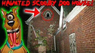 HAUNTED SCOOBY DOO HOUSE 24 HOUR OVERNIGHT CHALLENGE TRAP DOOR FOUND AND A GHOST MADE AN APPEARANCE