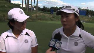 Tseng and Kung of Chinese Taipei on their dominant day at the International Crown