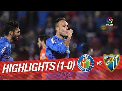 Resumen de Getafe CF vs Málaga CF (1-0)