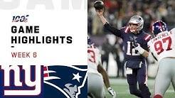 Giants vs. Patriots Week 6 Highlights | NFL 2019