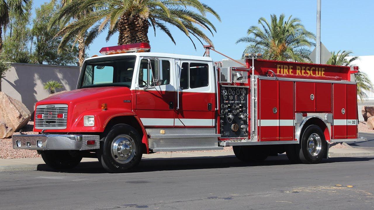 1996 Freightliner Fl70    Southern Coach Pumper Fire Truck