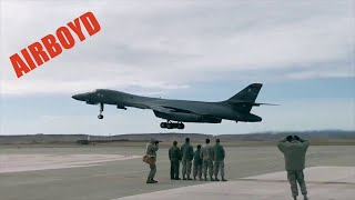 B-1B Bomber Takeoff and Taxi - Ellsworth Air Force Base