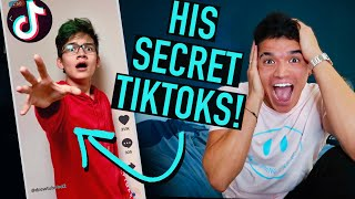 Reacting To My Little Bro's SECRET TikToks!