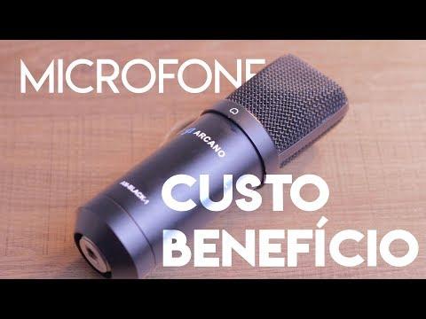 Microfone USB CUSTO-BENEFÍCIO - Arcano Black AM-01