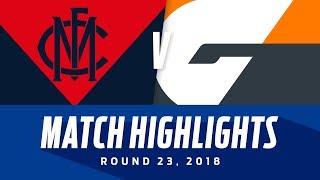 Melbourne v GWS Match Highlights   Round 23, 2018   AFL