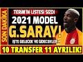 İşte 2020-21 Model Galatasaray! 10 TRANSFER 11 AYRILIK