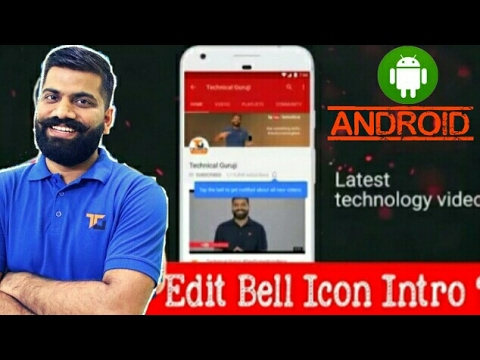 How To Make a Subscription bell Intro Like Technical Guruji With Mobile