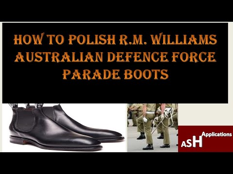 How to Polish R. M. Williams ADF Parade Boots