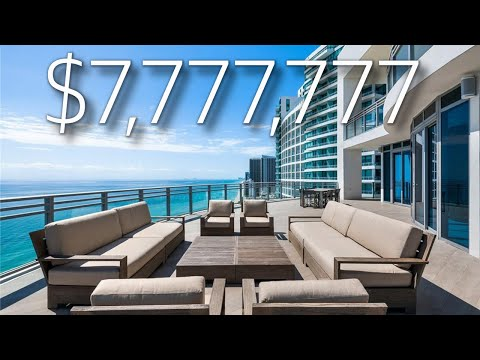 INSIDE A $7,777,777 OCEANFRONT PENTHOUSE IN SOUTH FLORIDA / LUXURY HOME TOURS