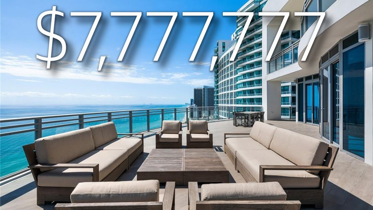Download INSIDE A $7,777,777 OCEANFRONT PENTHOUSE IN SOUTH FLORIDA / LUXURY HOME TOURS