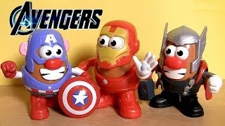 Marvel Mr. Potato Head Captain America THOR Iron Man From Walt Disney Marvel The Avengers toys