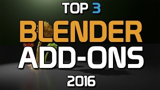 Top 3 Blender Add-ons That You NEED! thumbnail