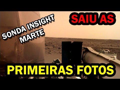 Primeiras fotos de Marte da sonda InSight