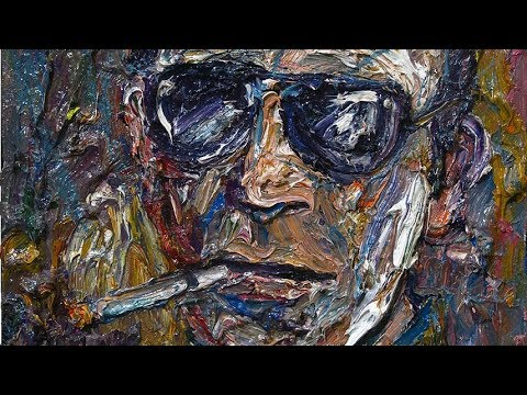 original modern oil painting large impressionist art face  texture gallery nyc artist - m1053