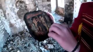 Пожар на Валааме. Обгоревшая валаамская школа.