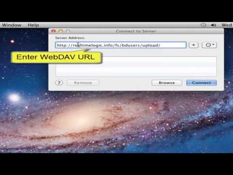 Connect a Windows and Mac computer to a WebDAV server