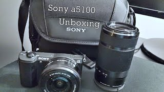 Sony a5100 Unboxing With 55-210mm & 16-50mm Lens
