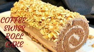 Coffee Swiss Roll Cake Recipe