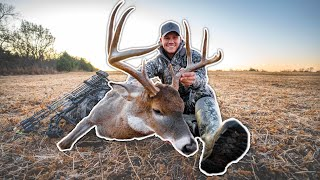 BIG BUCK Bow Hunting in Kansas!!! (FIRST NIGHT!)