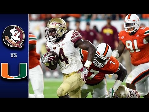 Florida State vs Miami Football Highlights (2016)