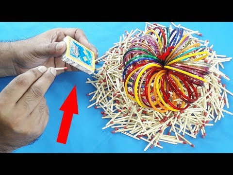 Amazing idea with matchstick & Old bangles | Matchstick Art and Craft Idea | DIY arts and crafts