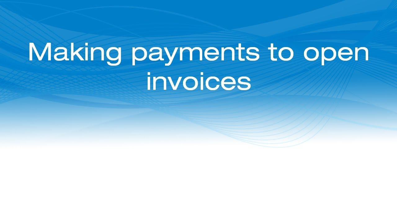 Making Payments To Open Invoices In IMIS YouTube - Adp open invoice help