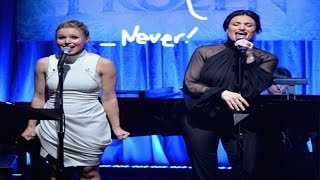 Kristen Bell and Idina Menzel Perform Disney