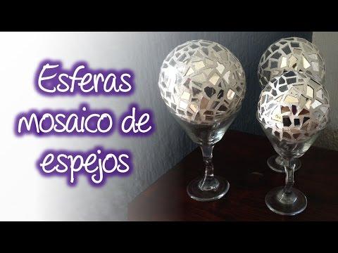 Esferas de espejo tipo mosaico para decoraci n spheres - Decoracion de espejos ...