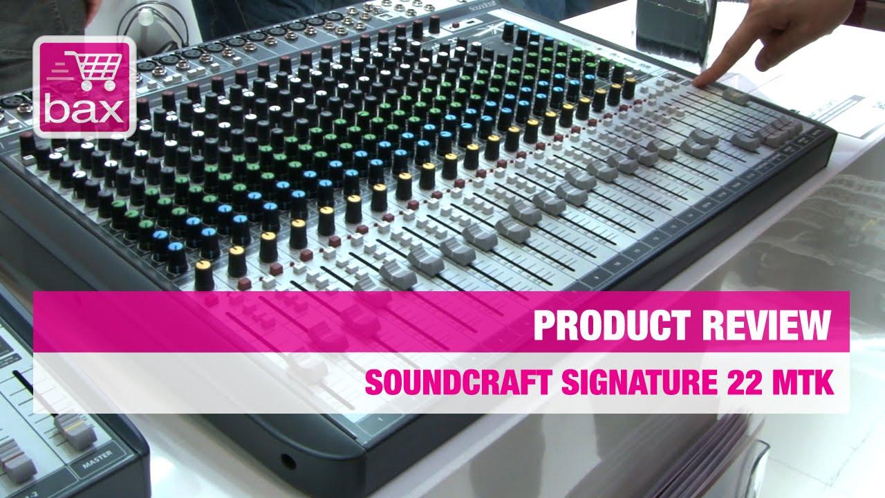 musikmesse 2015 soundcraft signature 22 mtk youtube. Black Bedroom Furniture Sets. Home Design Ideas