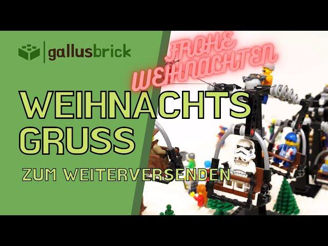 Euer Lieblings MOC | Der LEGO Sessellift | Weihnachtsgruss | Deutsch