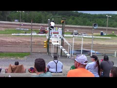 Hummingbird Speedway (6-16-18): Sunny 106.5 FM Pure Stock Heat Race #2