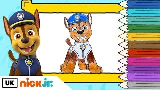 Paw Patrol | Colour In: Chase | Nick Jr. UK