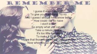 Remember me - Daley LYRICS