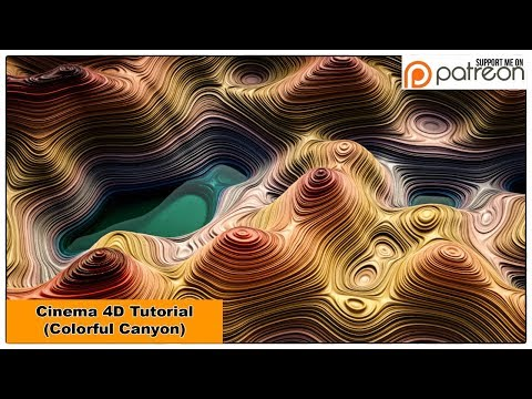 Colorful Canyon (Cinema 4D Tutorial)