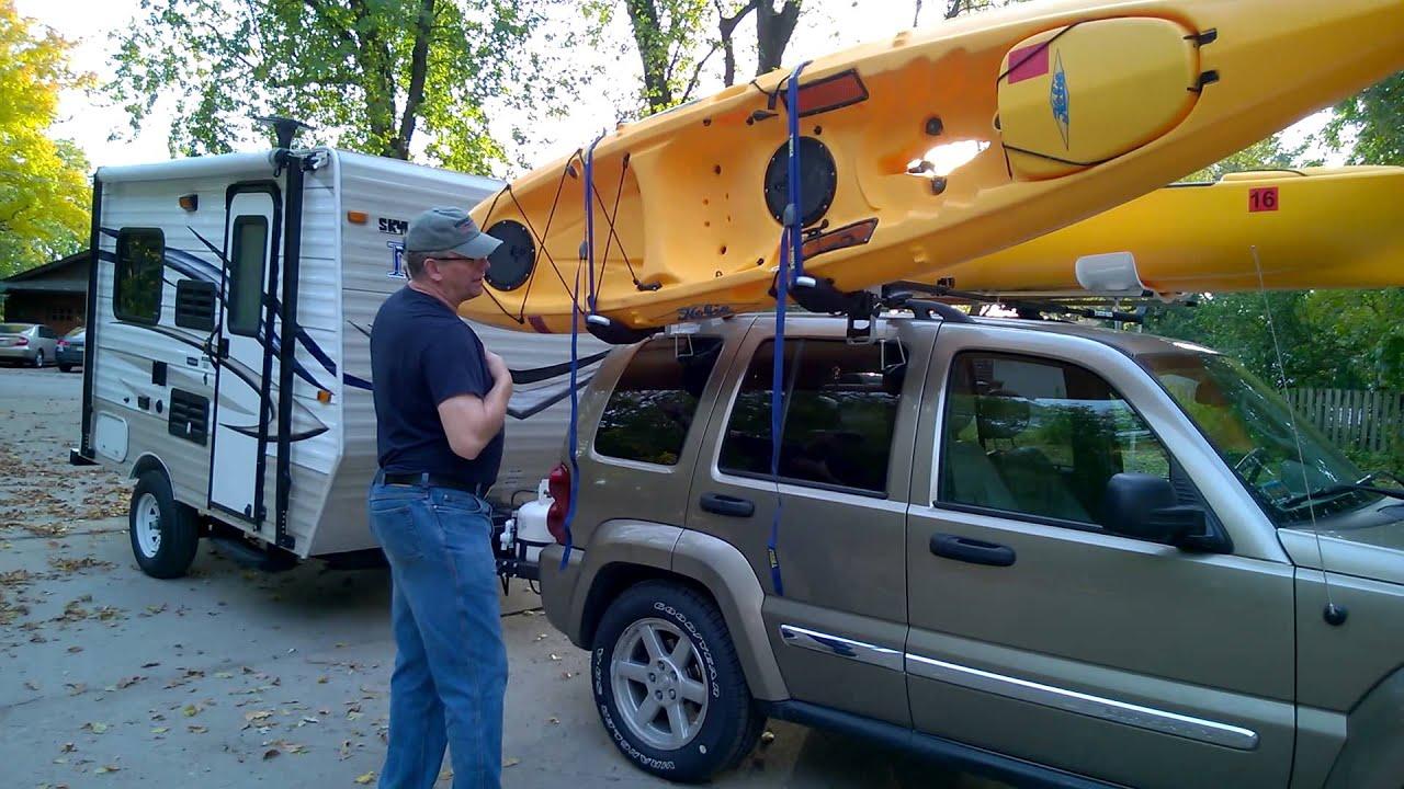 Hobie Revolution Kayak Thule Hullavator Unloading Part 1