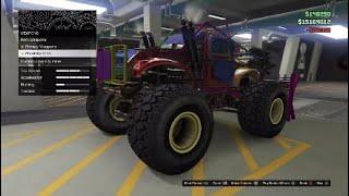 GTA Online Arena Wars DLC - Customizing The Sasquatch (Rat Truck)