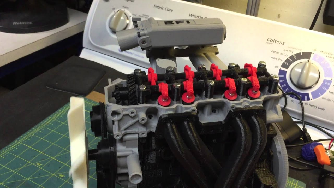 Working 3d Printed Toyota 22re Engine