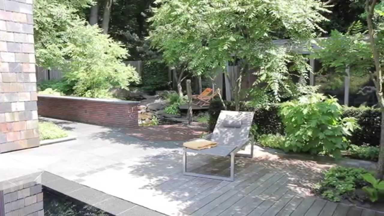 Van mierlo tuinen luxe bostuin met zwembad en waterloop youtube